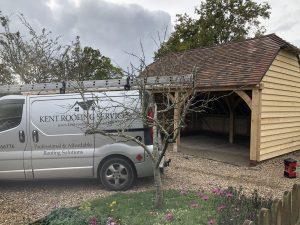 Cart lodge, garage, shed, concrete tile, kent, roofing, services, rochester kent
