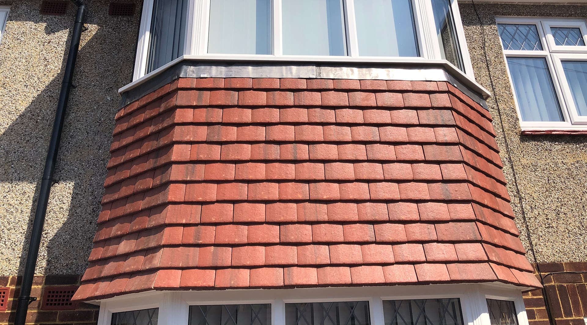 vertical concrete tile kent roofing services rochester medway kent