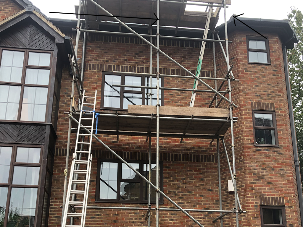 scaffold, fascia, guttering, soffit, kent roofing services, rochester, medway